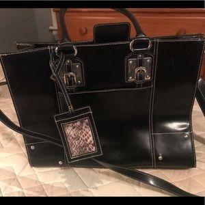 Wilson Black Leather Tote